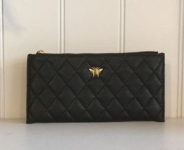 Alice Wheeler Bumblebee Quilted Corn Purse - Black